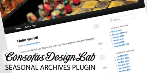 Seasonal Archives Wordpress Plugin